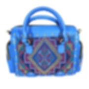 レザーボストンバッグ(ブルー)|エシカルブランドのバッグ | ワールドブリッジクラブ