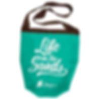 Lagu-砂の付かないビーチ用バッグ-エメラルドグリーン(aguamarinob