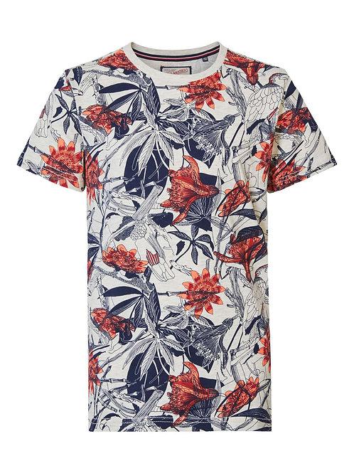 T-Shirt fleuri Petrol