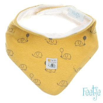 Foulard triangle jaune Feetje