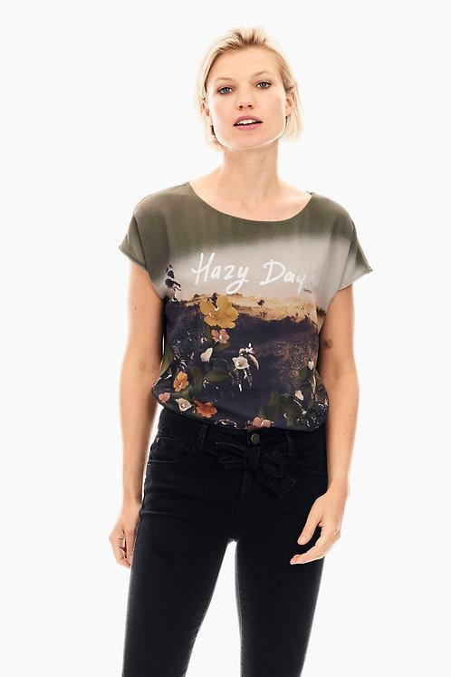 T-Shirt Vert Avec Imprimé Garcia