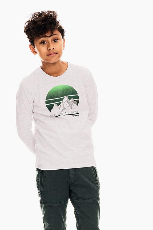 T-Shirt À Manches Longues Blanc Garcia
