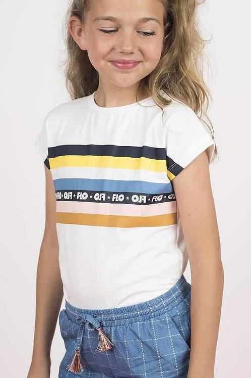 T-Shirt blanc Like Flo