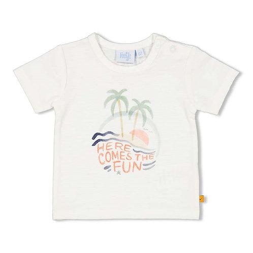 T-shirt blanc Feetje
