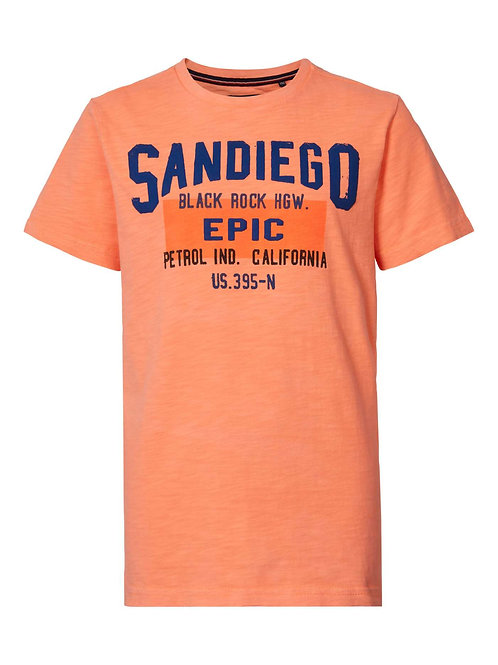 T-Shirt orange Petrol