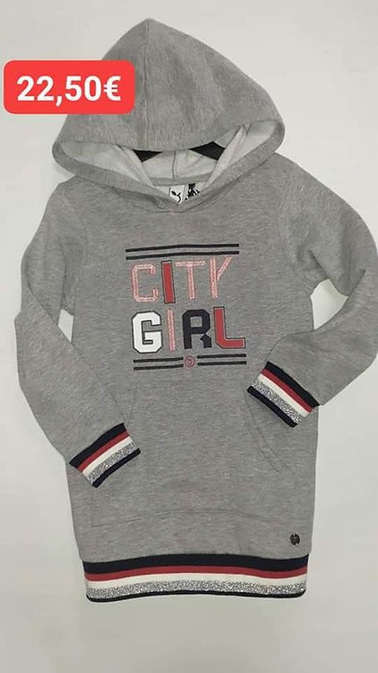 Sweat long 3 Pommes  gris