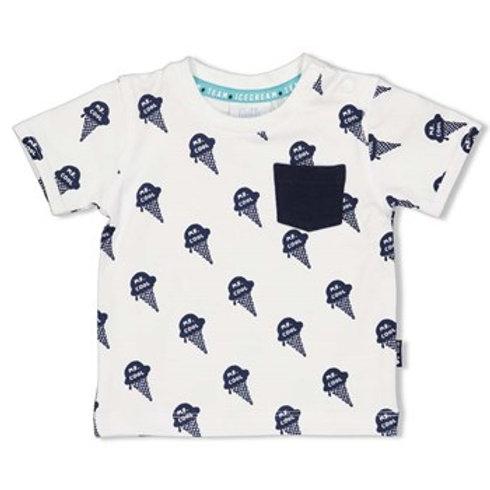 T-Shirt blanc avec glaces Feetje