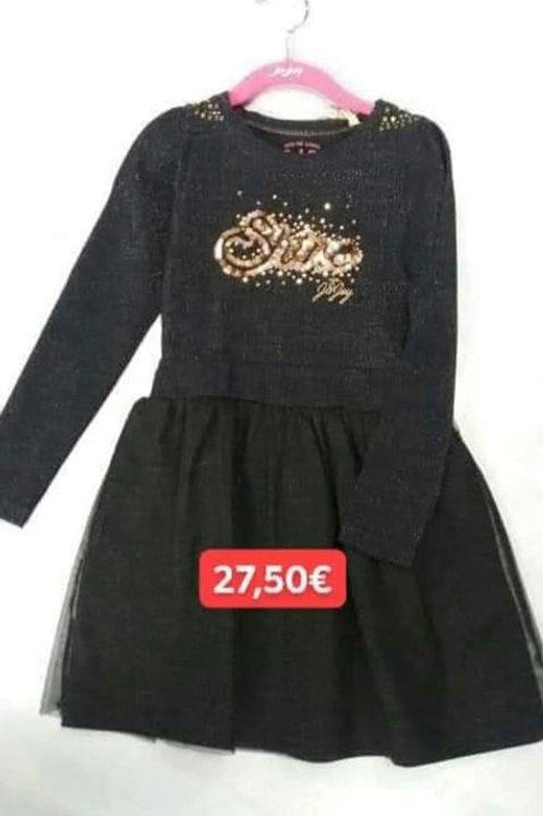 Robe J&Joy noir stass dorés