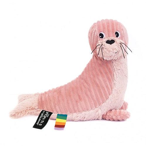 Peluche Ptipotos le phoque rose