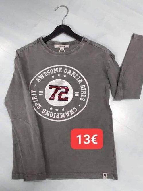Tshirt Garcia gris sequins