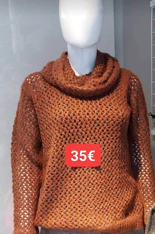 Pull mailles rouille Soyaconcept