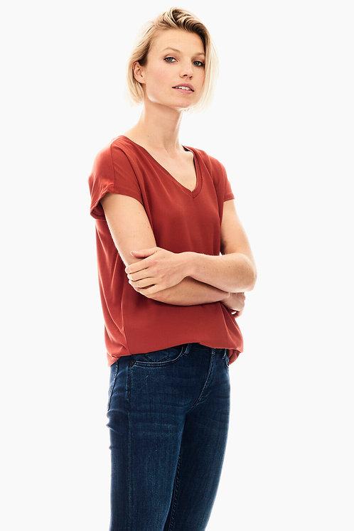 T-Shirt Rouge Foncé Garcia