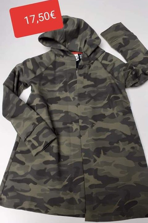 Gilet long camouflage KMDB