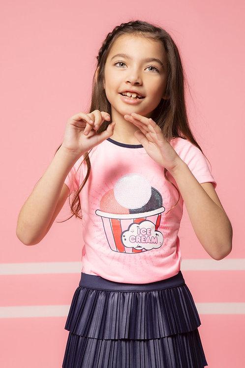 """T-shirt """"Ice cream"""" rose B.Nosy"""