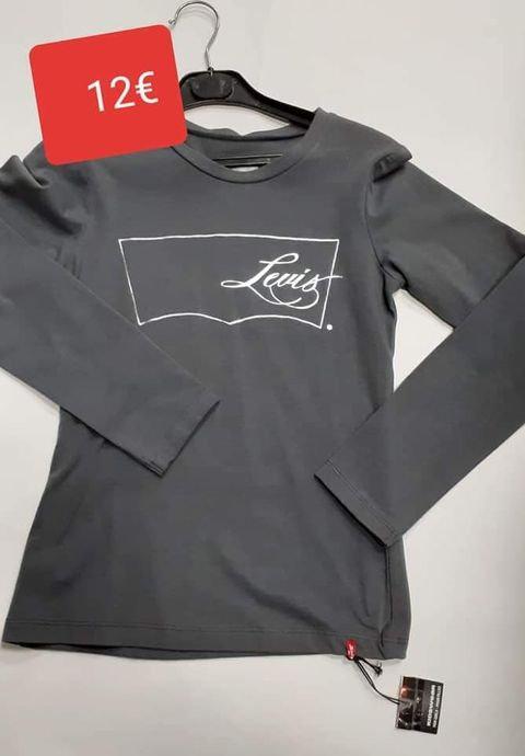 Tshirt Levi's gris print argenté