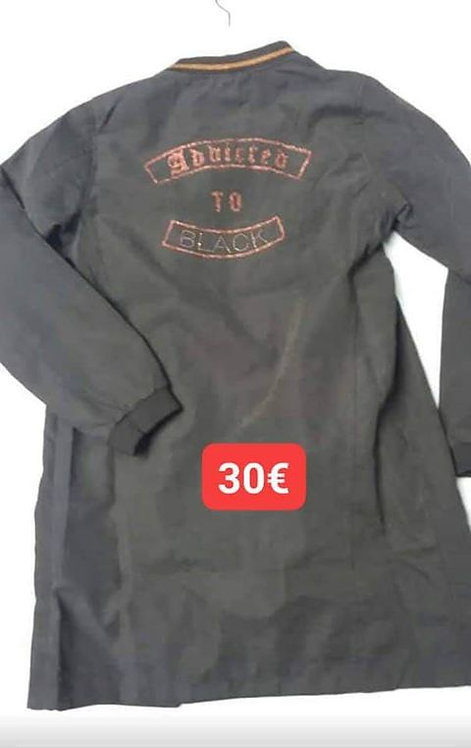Chemise zip noir Ikks