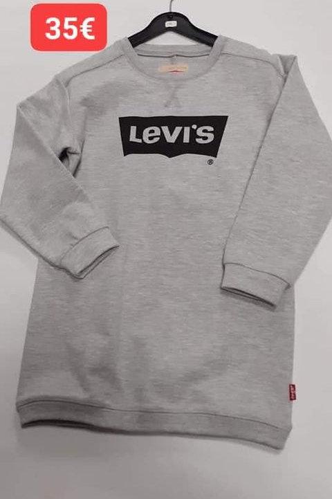 Sweat tunique Levi's gris