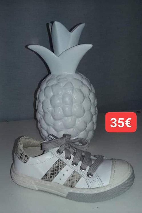 Baskets en cuir blanc Norvik