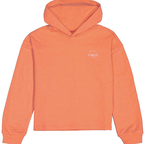 Sweat À Capuche Orange Garcia