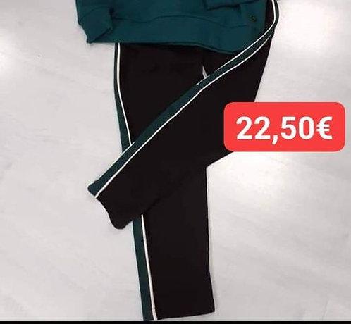 Pantalon Beckaro noir/vert