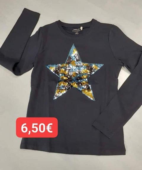 Tshirt marine étoile sequins  Name It