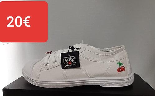 Chaussures blanche le temps des cerises