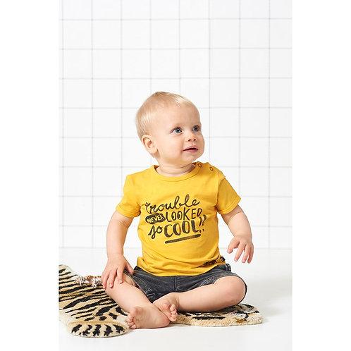 T-Shirt jaune Feetje