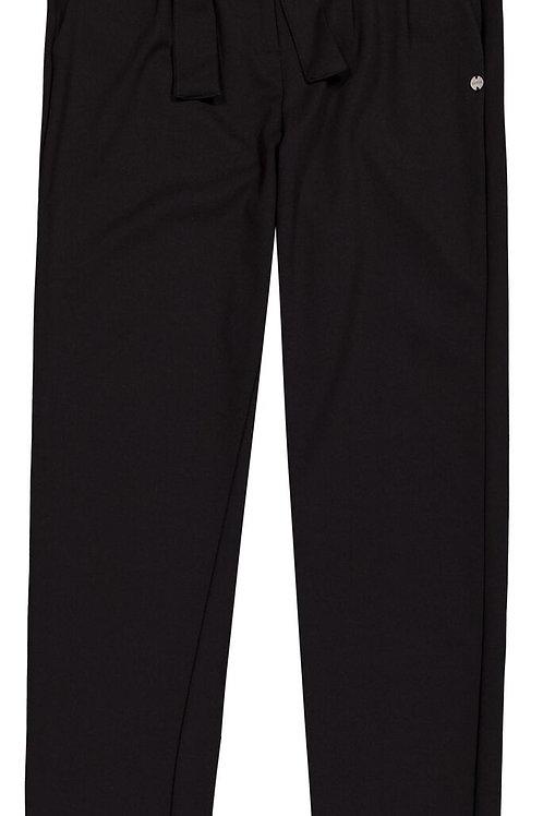 Pantalon Noir Effet Paperbag Garcia