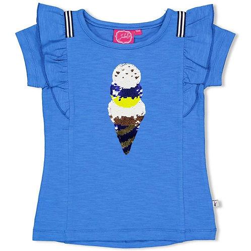 T-Shirt bleu vif + glaces Jubel