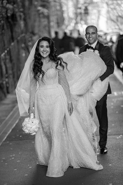 Wedding location photos at The Rocks, Sydney. Wedding photography by best Sydney wedding photographer, Grant Hoskinson Photography. Bride's gown by Steven Khalil. Wedding Reception at Doltone House Jones Bay Wharf.