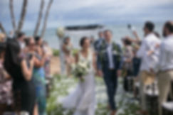 Sydney wedding photographer. Grant Hoskinson Photography. Throwing confetti on bride and groom.