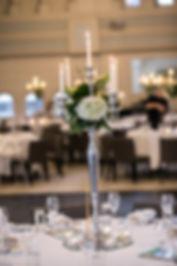 Table decorations. Wedding reception. QVB Tea Room. Wedding photgraphy by Sydney wedding photographer Grant Hoskinson Photography.