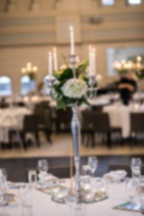 Table decorations. Wedding reception. QVB Tea Room.