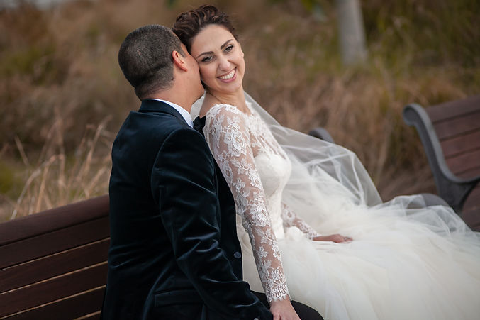 Bride and groom during location photos at Centennial Park. Wedding photography by best sydney wedding photographer, Grant Hoskinson Photography.