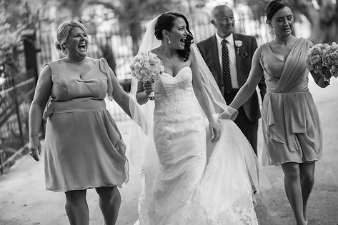 Beautiful wedding photography by popular wedding photographer, Grant Hoskinson Photography. Bride and father of the bride walking down the aisle for the wedding ceremony.Groom with groomsmen.  Royal Botanic Gardens, Melbourne.