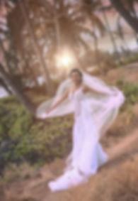 Sydney wedding photographer. Grant Hoskinson Photography. Bride with veil. location photos. Maui, Hawaii.