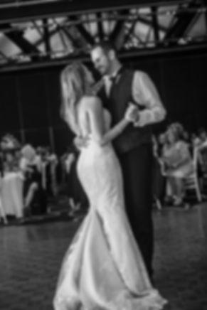Bride an groom dancing the bridal waltz. Doltone House, Jones Bay Wharf.