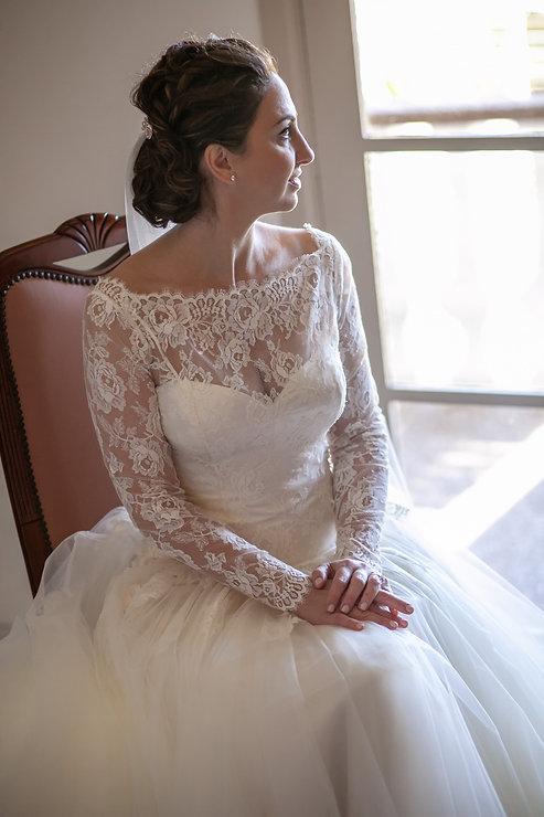 Bride portrait before the wedding. Wedding photography by best sydney wedding photographer, Grant Hoskinson Photography.