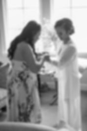 Sydney wedding photographer. Grant Hoskinson Photography. Bride getting ready with bridsmaid at Sugar Beach Events, Maui, Hawaii.