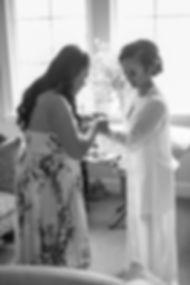 Sydney wedding photographer. Grant Hoskinson Photography. Bride getting ready with bridsmaid at Sugar Beach Events, Maui, Hawaii.