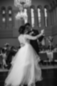 Bridal waltz. Wedding reception. QVB Tea Room. Wedding photgraphy by Sydney wedding photographer Grant Hoskinson Photography.