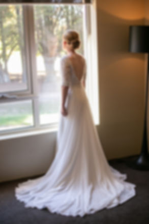Bride portrait while getting ready at Gibraltar Hotel, Bowral. Wedding photography by best sydney wedding photographer, Grant Hoskinson Photography.