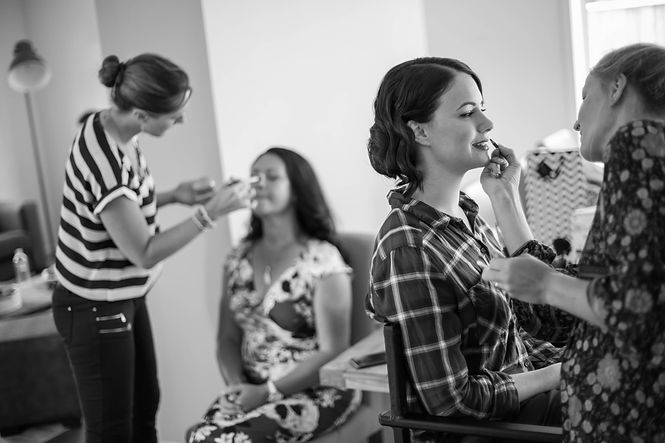 Bride and Mother of the bride getting their wedding makeup done. Wedding Photography by Sydney wedding photographer, Grant Hoskinson Photography.