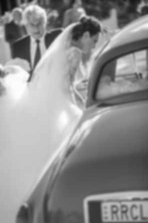 Bride leaving house to go to church. Wedding photography by best sydney wedding photographer, Grant Hoskinson Photography.