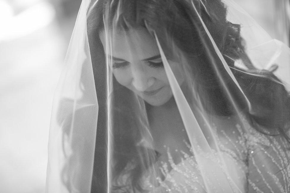 Bride's portrait. Wedding photography by best Sydney wedding photographer, Grant Hoskinson Photography. Bride's gown by Steven Khalil. Wedding Reception at Doltone House Jones Bay Wharf.