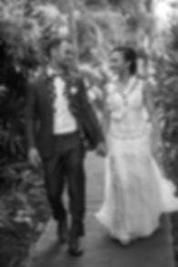 Sydney wedding photographer. Grant Hoskinson Photography. Bride and groom holding hands.