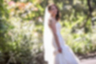 Bride in the botanic gardens, Melbourne. Beautiful wedding photography by popular Sydney wedding photographer, Grant Hoskinson Photography.