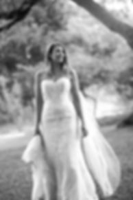 Bride in the Sydney Royal Botanic Gardens on their wedding photo location. Wedding photography by Grant Hoskinson Photography.