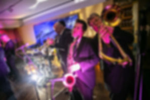 The Band at the wedding reception venue at Catalina, Rose Bay. Wedding photography by best sydney wedding photographer, Grant Hoskinson Photography.