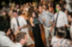 Wedding guests dancing. Doltone House, Jones Bay Wharf.